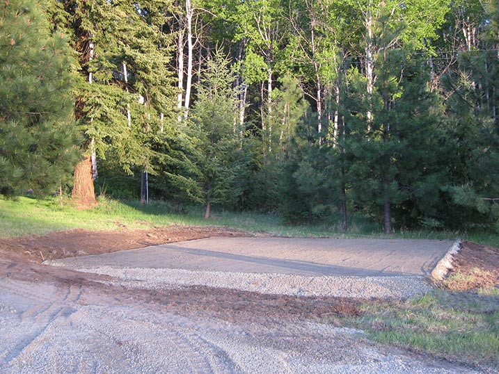 Rockwood Sheds Hamilton MT Gravel Shed Pad Foundation